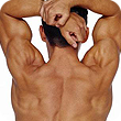 man flexing his back for spinal and postural screenings